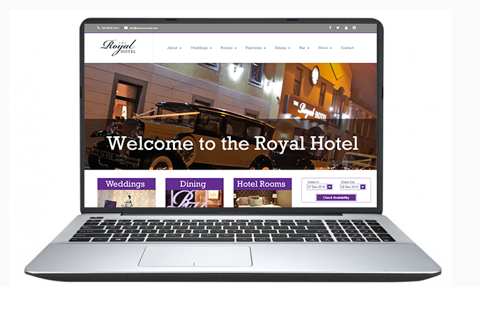 Belfast Website Design- The-Royal-Hotel